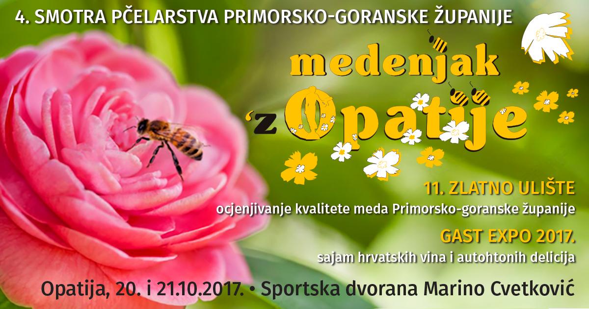 """4. smotra pčelarstva Primorsko-goranske županije """"Medenjak 'z Opatije 2017"""" 20. i 21. listopada 2017."""